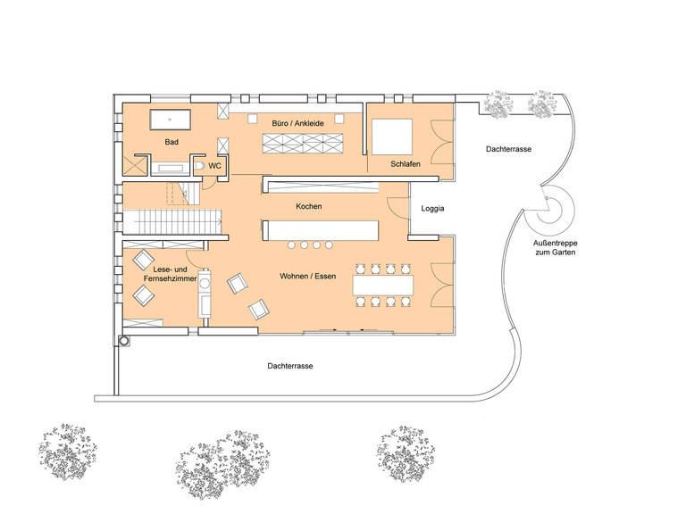 Grundriss EG Designhaus Weitblick
