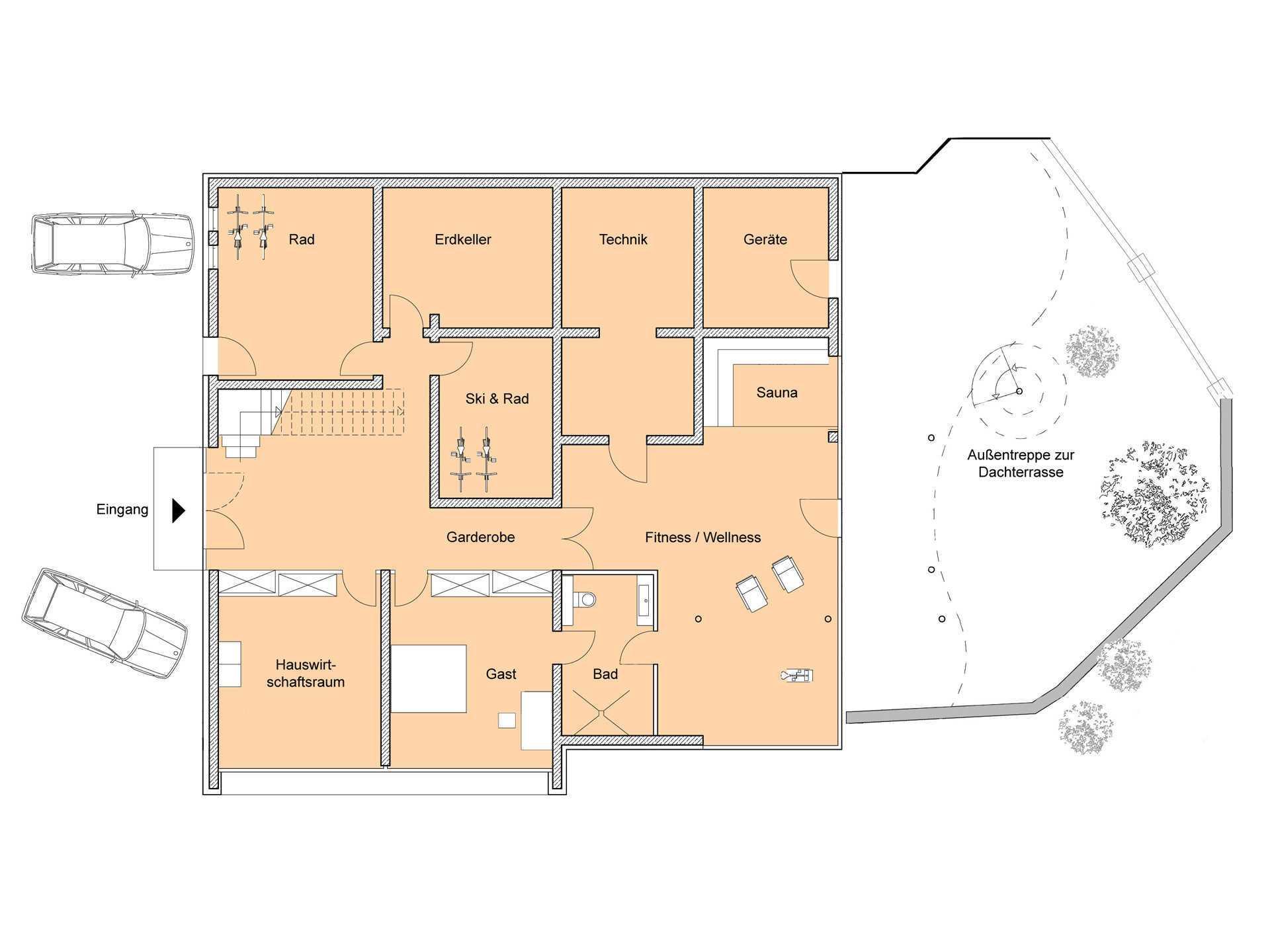 Grundriss UG Designhaus Weitblick