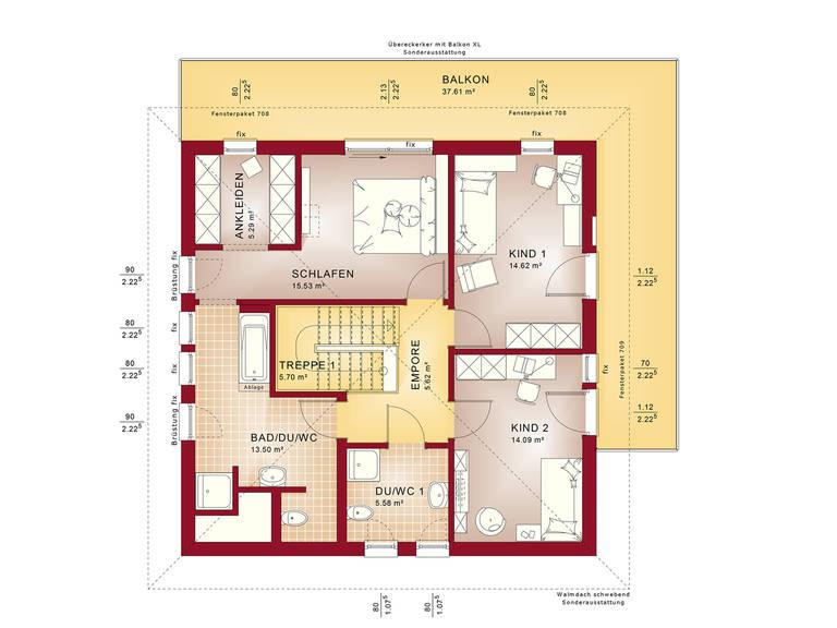 Fantastic 161 V6 – Einfamilienhaus Grundriss OG