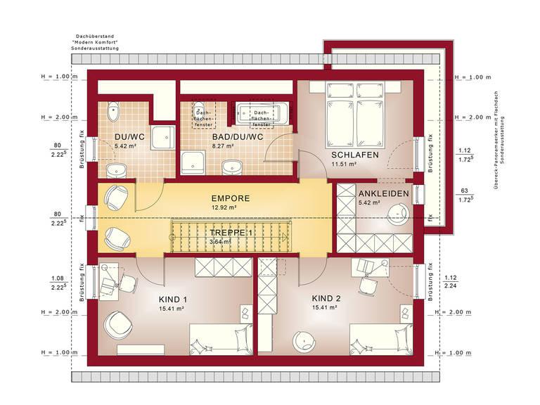 Fantastic 162 V2 – Einfamilienhaus Grundriss DG