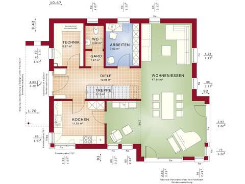 Fantastic 162 V4 – Einfamilienhaus Grundriss EG