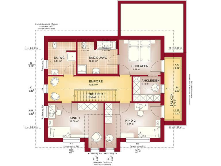 Fantastic 162 V5 – Einfamilienhaus Grundriss DG
