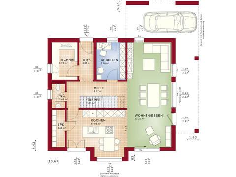 Fantastic 162 V5 – Einfamilienhaus Grundriss EG