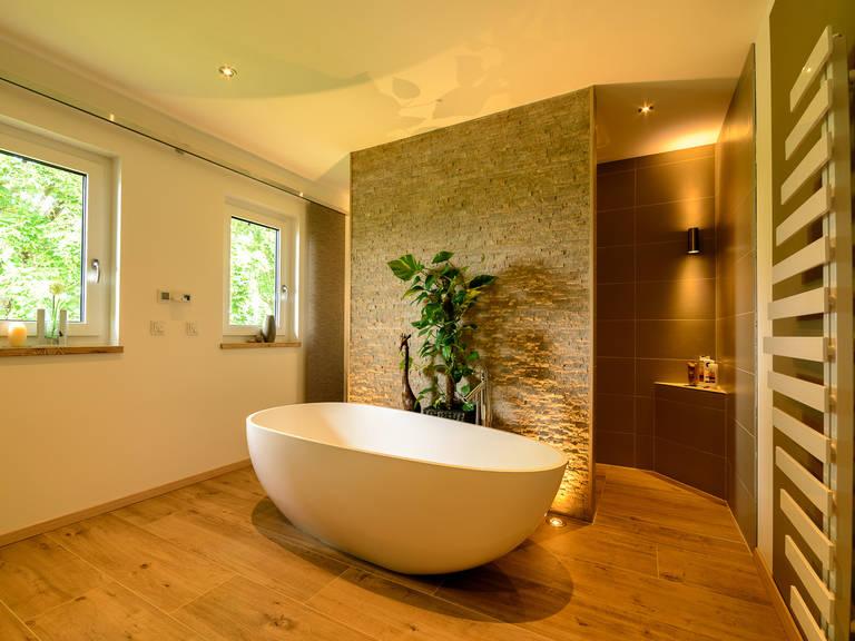 Badezimmer 1 - Doppelhaus Auen - ALBERT Haus