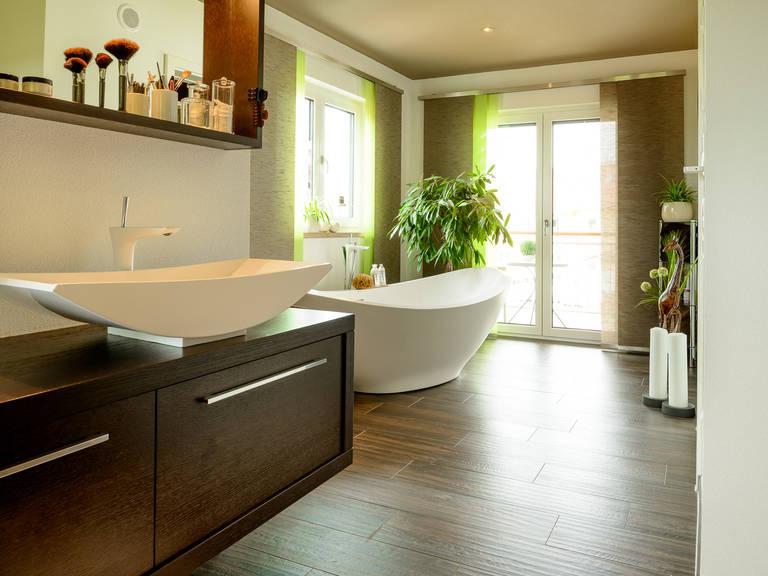 Badezimmer 2 - Doppelhaus Auen - ALBERT Haus