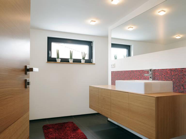 Badezimmer - Einfamilienhaus im Bauhausstil - ALBERT Haus