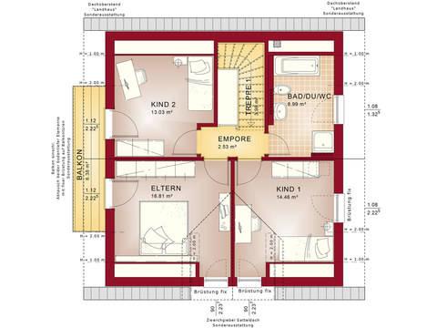 Bien-Zenker Einfamilienhaus Celebration 134 V2 Grundriss DG