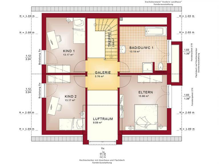 Bien-Zenker Einfamilienhaus Celebration 150 V4 Grundriss DG