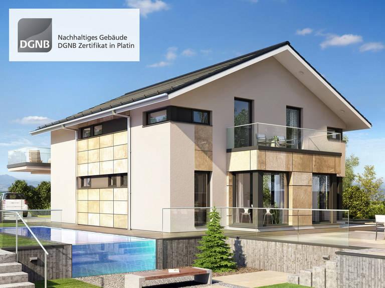 Bien-Zenker Hausentwurf Concept-M München Modern-Classic V1 Ansicht 2
