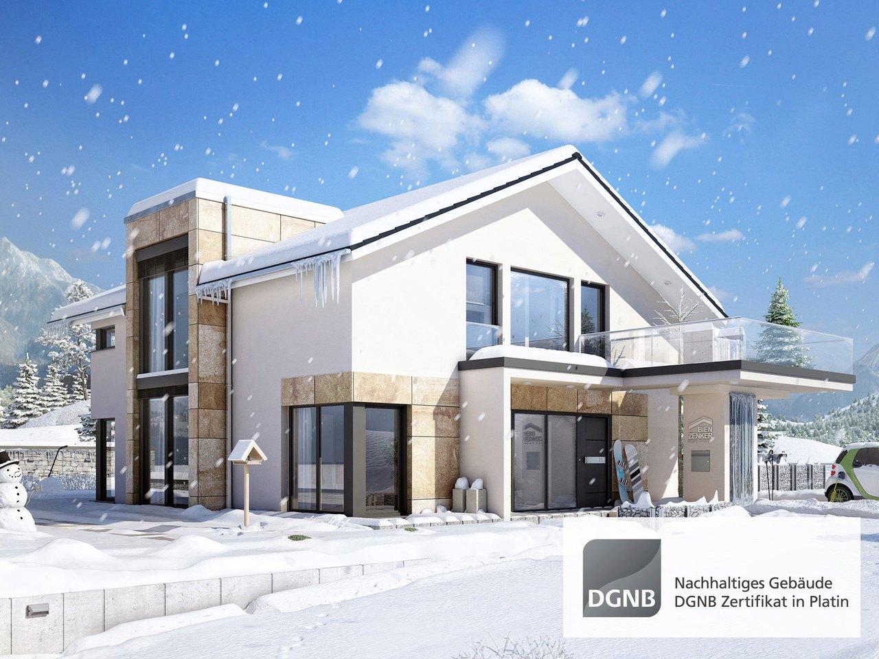 Bien-Zenker Hausentwurf Concept-M München Modern-Classic V1 Ansicht 3