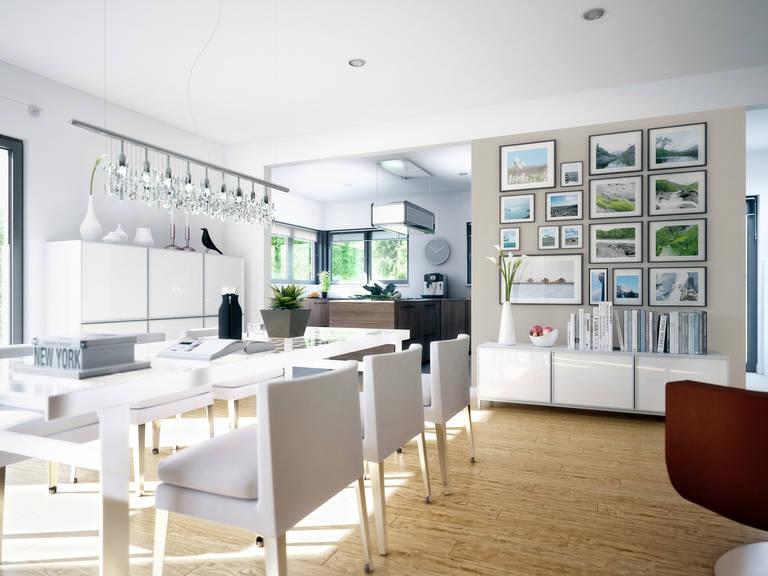 Innenansicht offene Küche und Essbereich Celebration 282 V4 von Bien Zenker