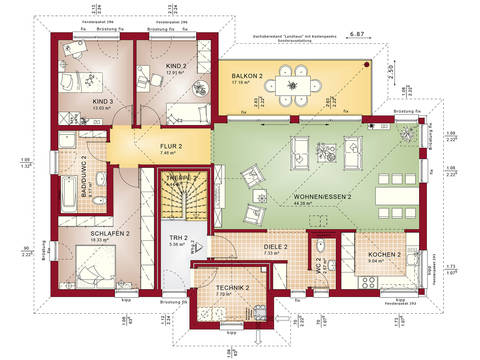 Zweifamilienhaus celebration 282 v4 bien zenker for Zweifamilienhaus modern grundriss