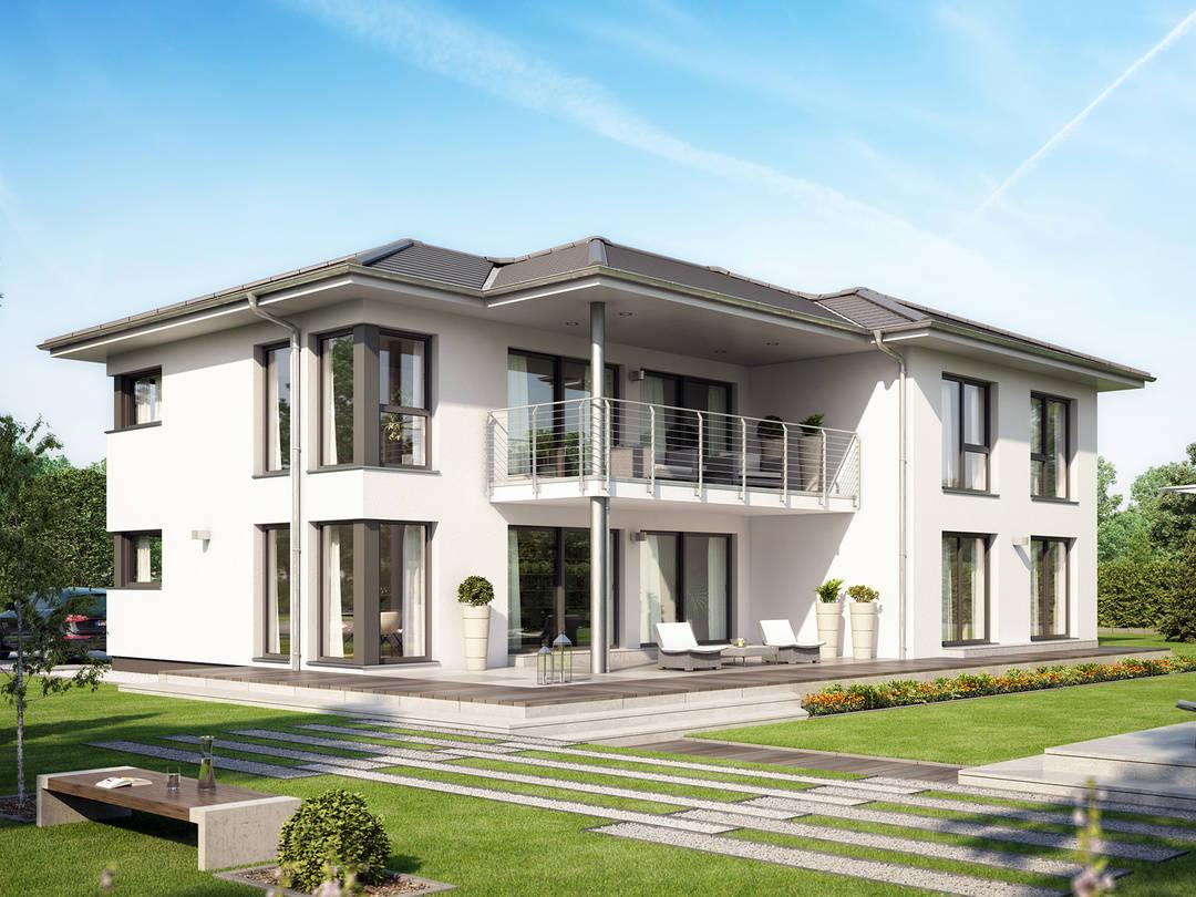 Zweifamilienhaus celebration 282 v4 bien zenker for Zweifamilienhaus stadtvilla