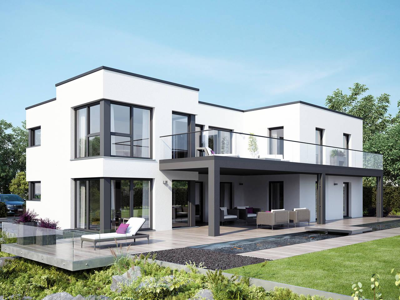 Zweifamilienhaus celebration 282 v7 bien zenker for Modernes haus dachterrasse