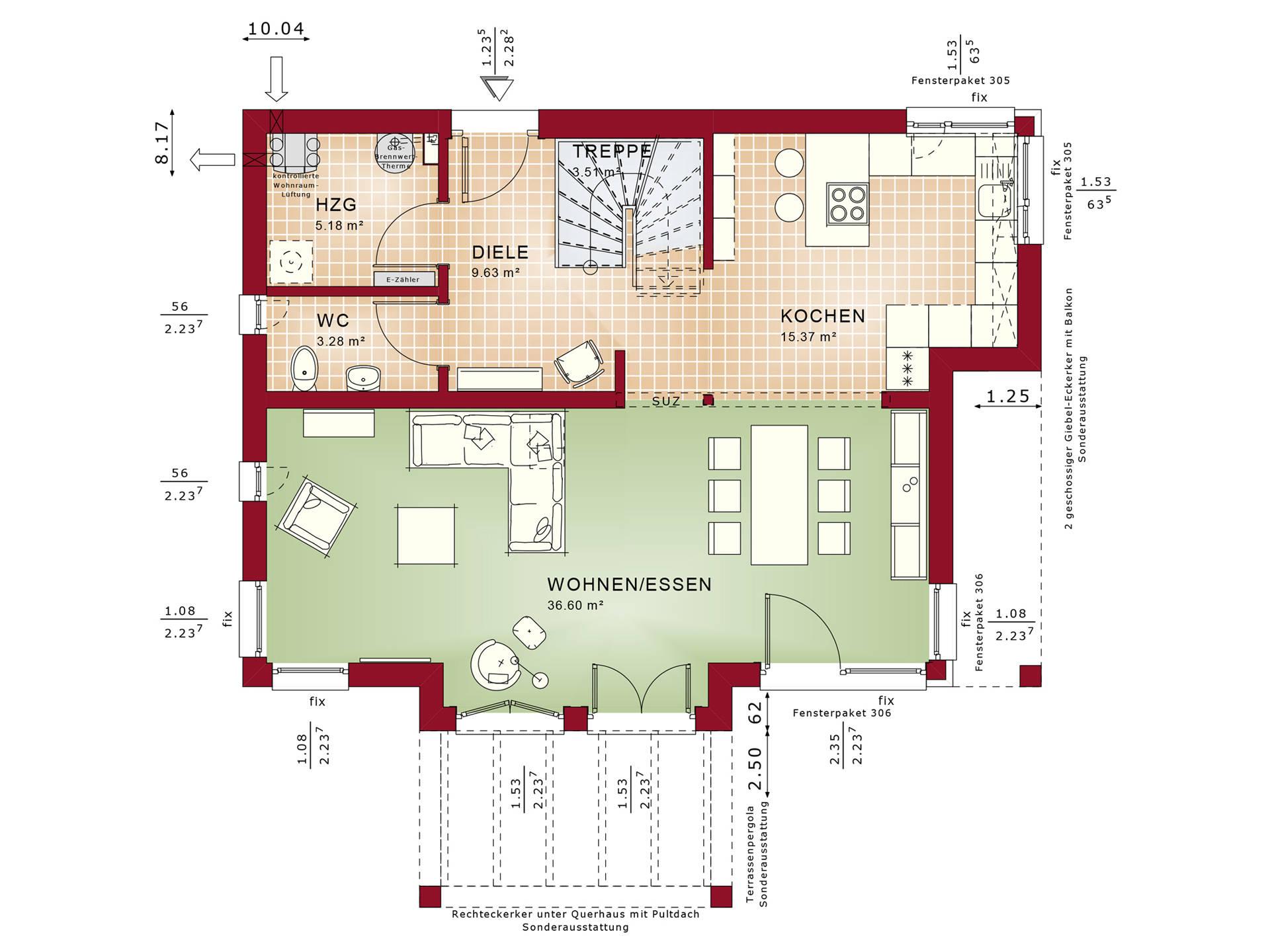 Grundriss EG Concept-M Aktionshaus 134 TR V4