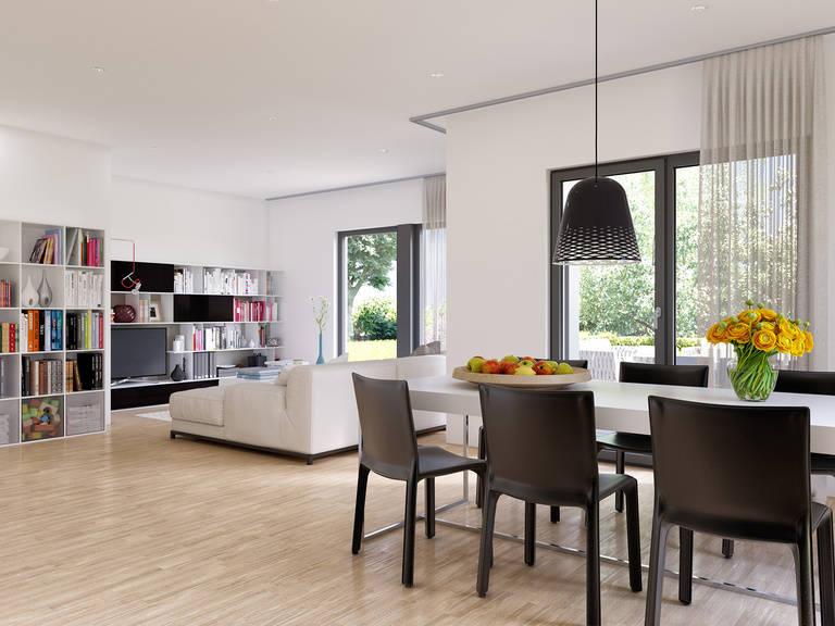 Innenansicht Wohn- und Essbereich Innenansicht Wohn- und Essbereich Edition 2 V2 - Einfamilienhaus von Bien Zenker