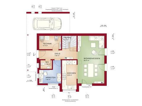 Grundriss EG Edition 2 V2 - Einfamilienhaus