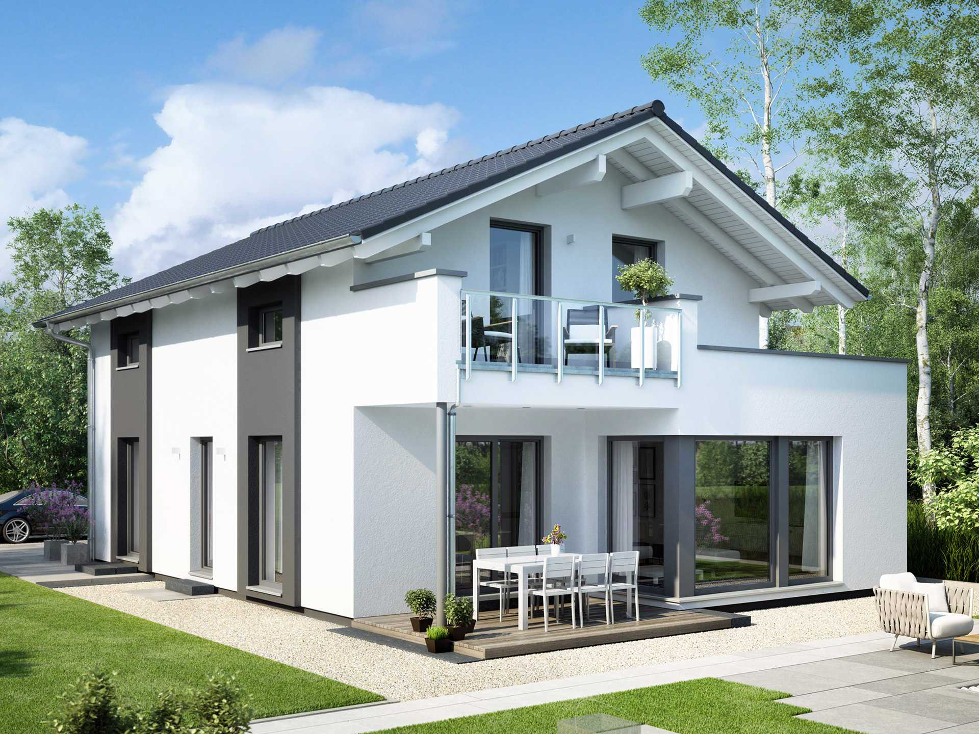 Einfamilienhaus edition 2 v3 bien zenker for Billig bauen fertighaus