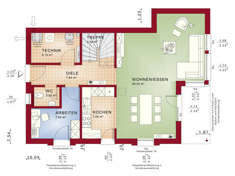 Grundriss EG Edition 2 V3 - Einfamilienhaus