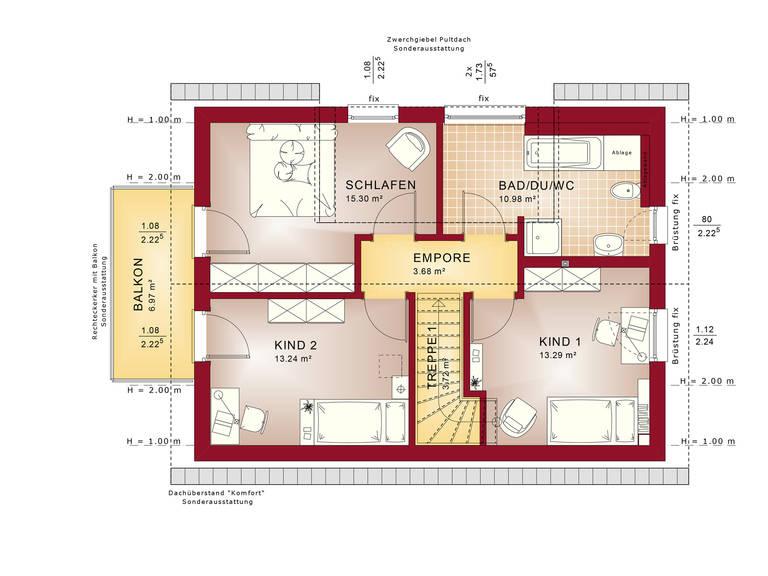 Grundriss DG Edition 3 V5 - Einfamilienhaus