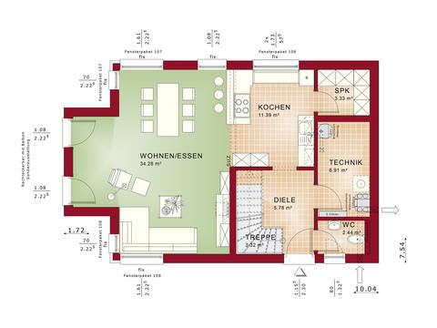 Grundriss EG Edition 3 V5 - Einfamilienhaus