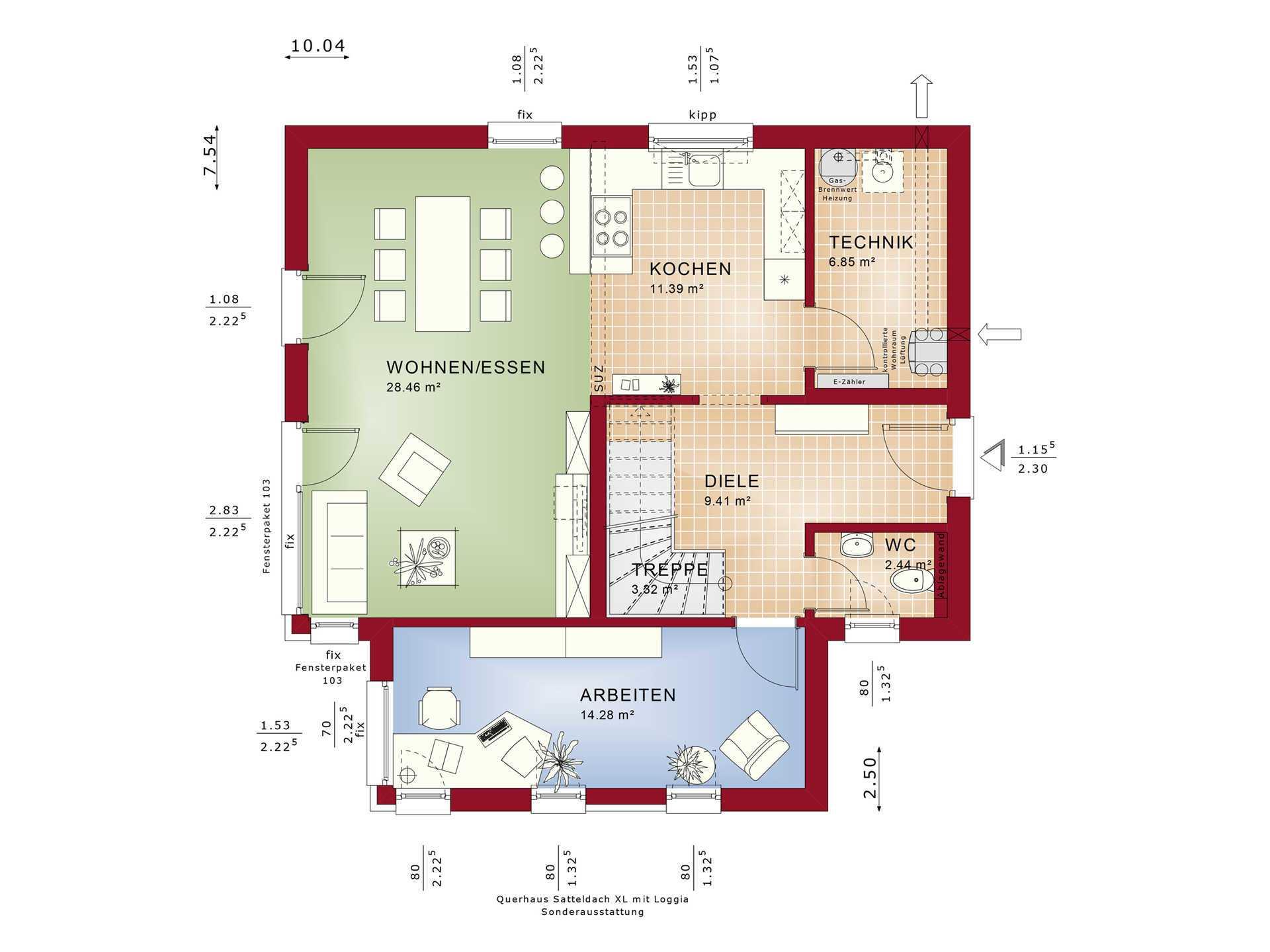 Grundriss EG Edition 3 V6 - Einfamilienhaus