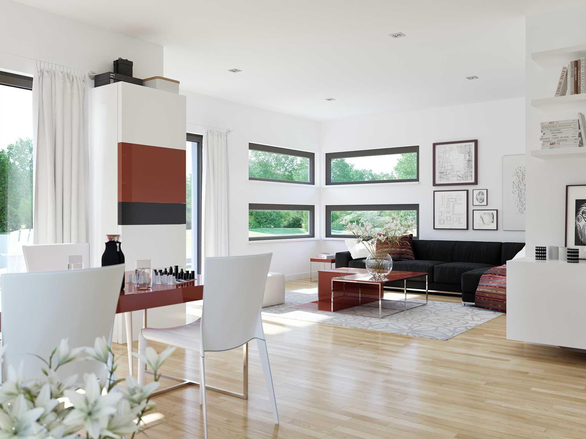 Innenansicht Wohnbereich Edition 4 V4 - Einfamilienhaus von Bien Zenker