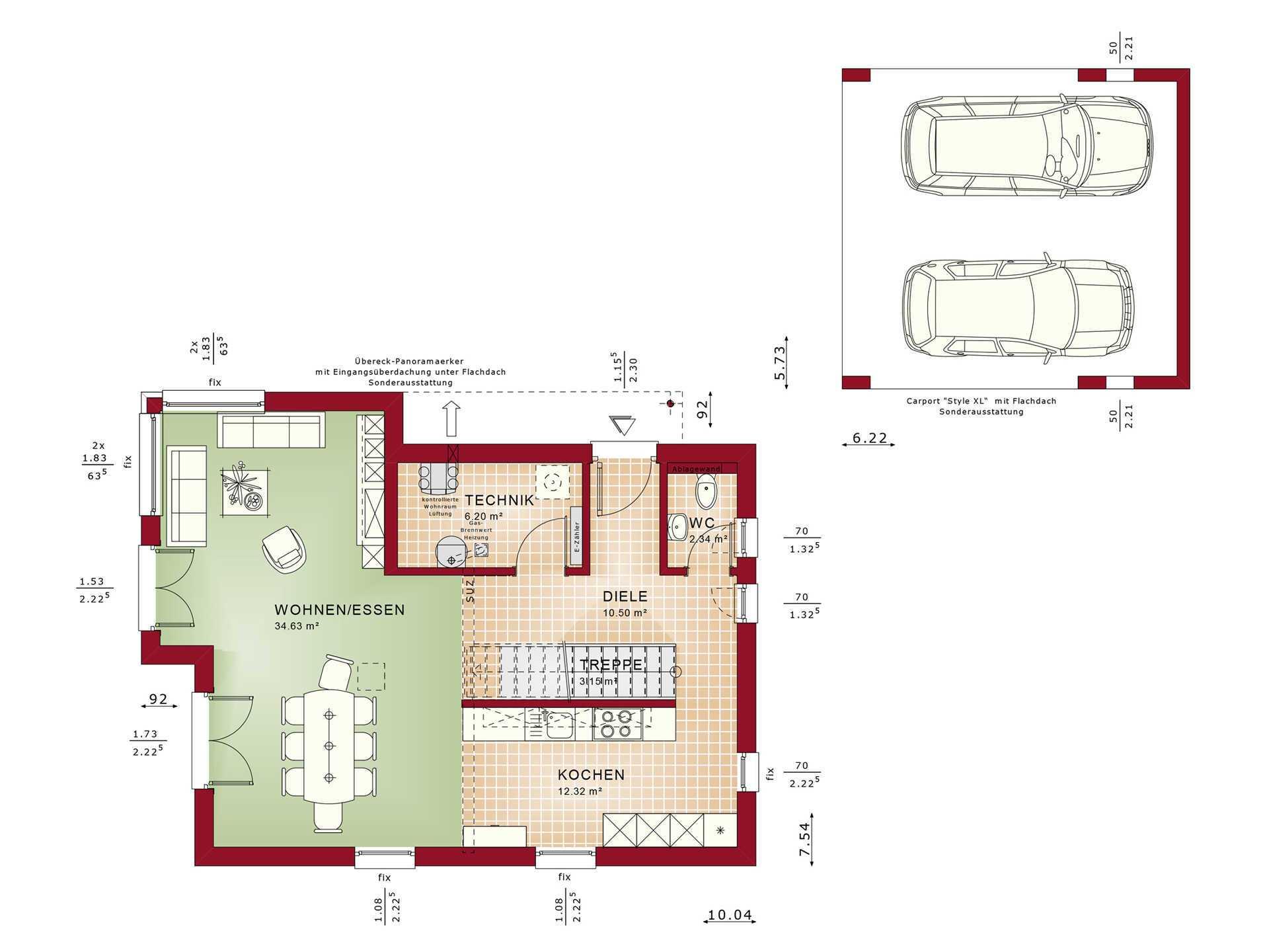 Grundriss EG Edition 4 V4 - Einfamilienhaus