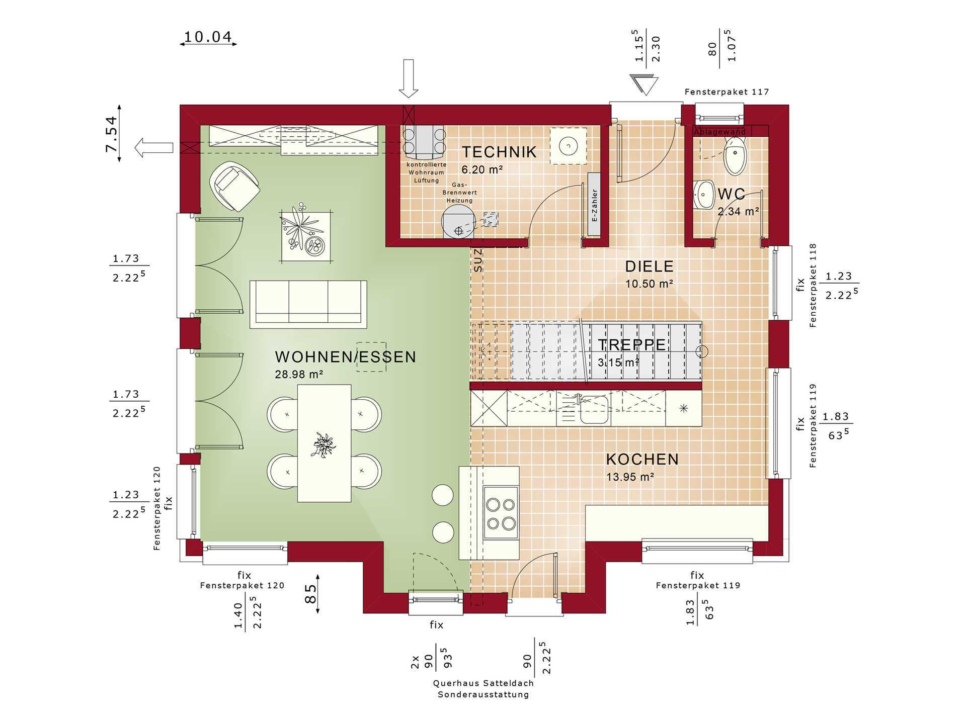 Grundriss EG Edition 4 V5 - Einfamilienhaus