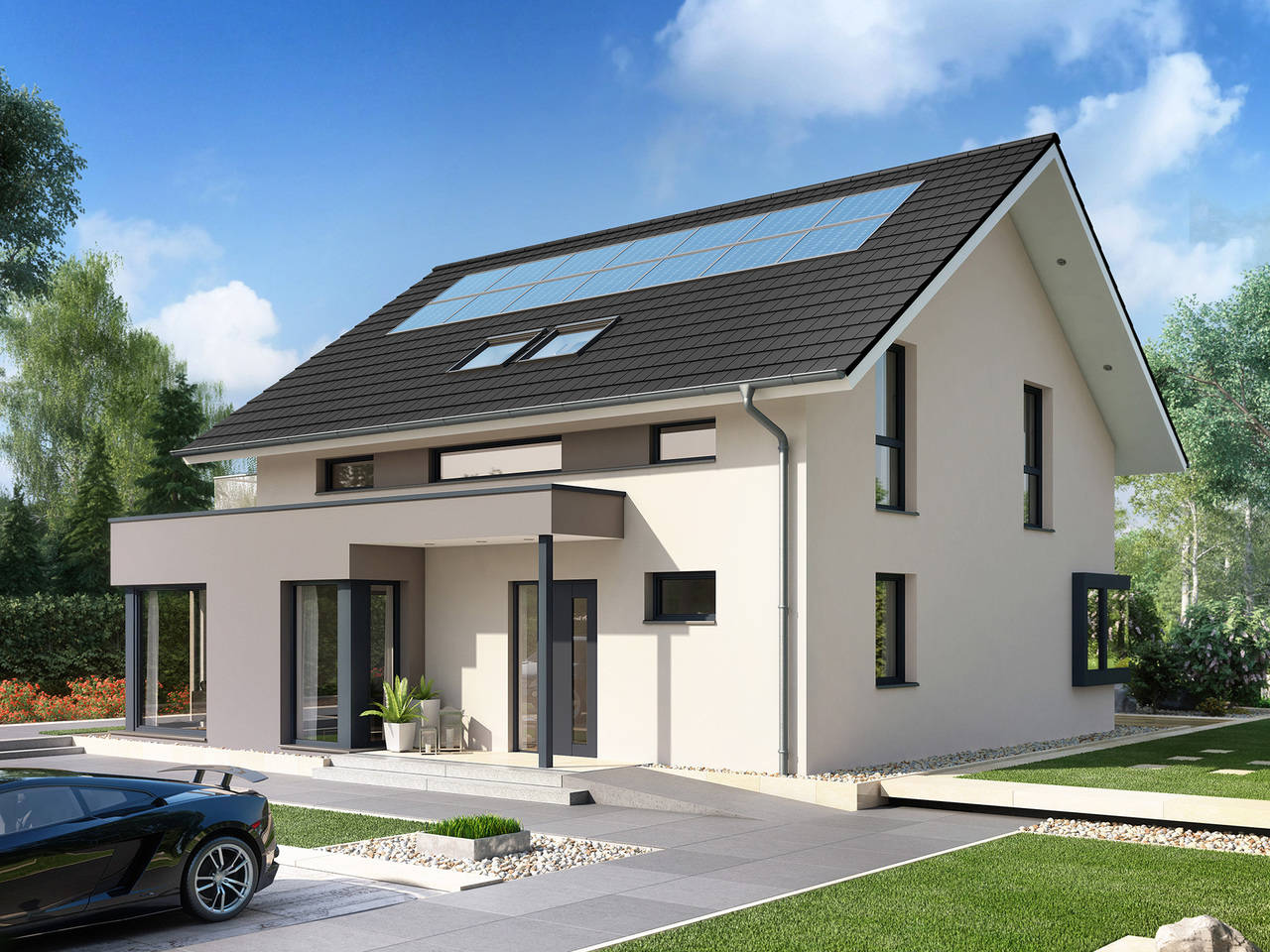 Evolution Mainz Front - Einfamilienhaus von Bien-Zenker