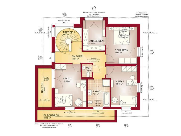 Grundriss DG Evolution Mainz - Einfamilienhaus