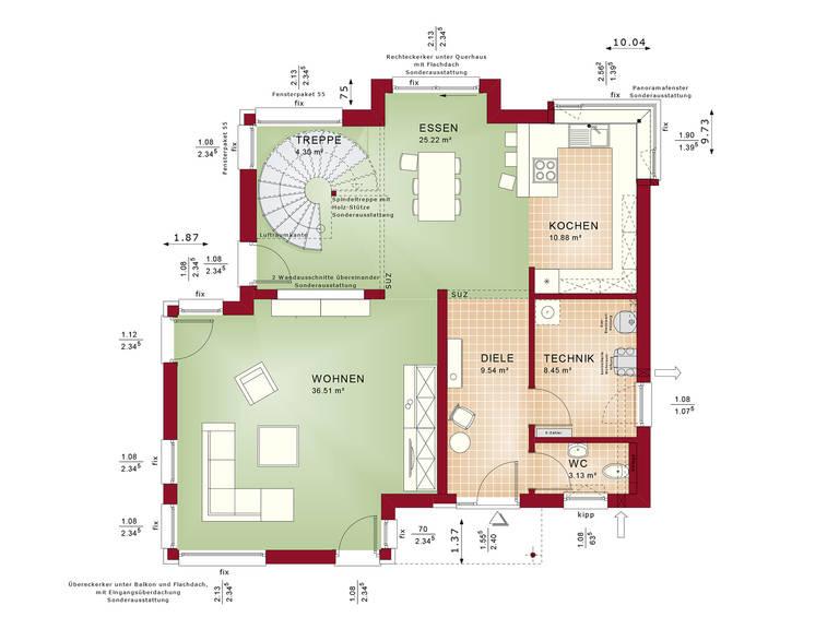 Grundriss EG Evolution Mainz - Einfamilienhaus