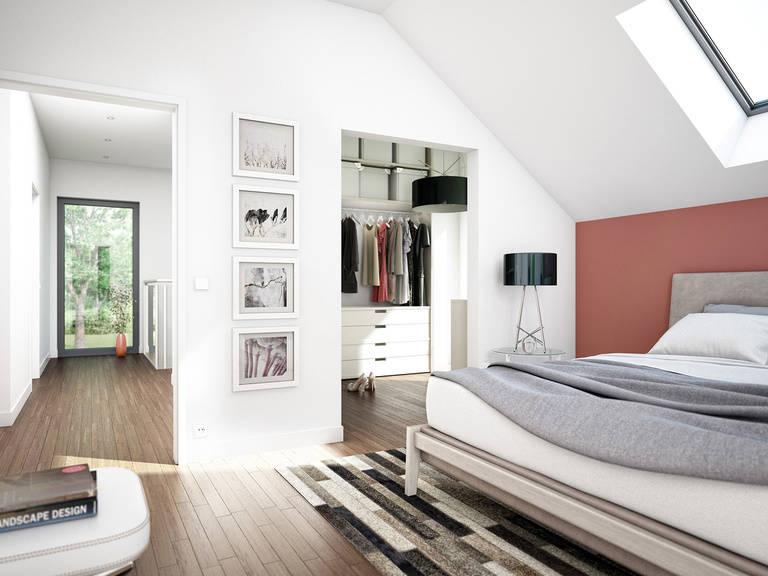 Innenansicht Schlafzimmer Mainz - Einfamilienhaus von Bien Zenker