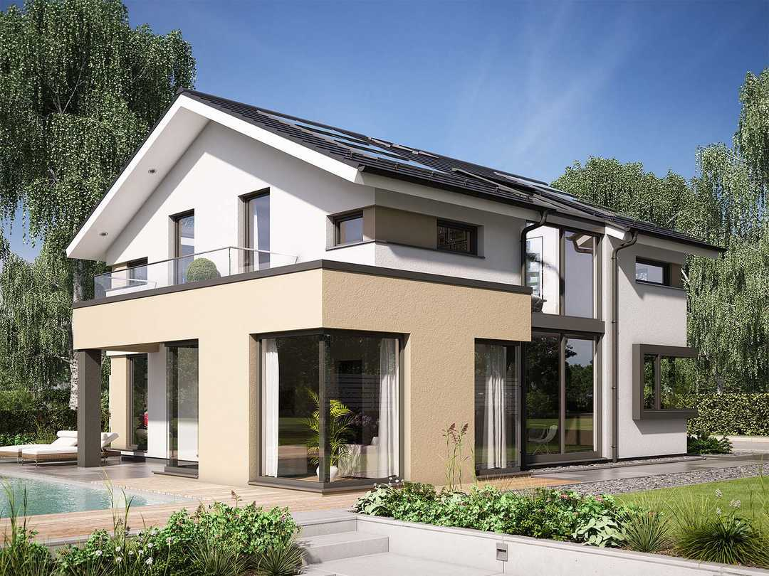 Musterhaus concept m 153 stuttgart bien zenker for Rechteckiges haus