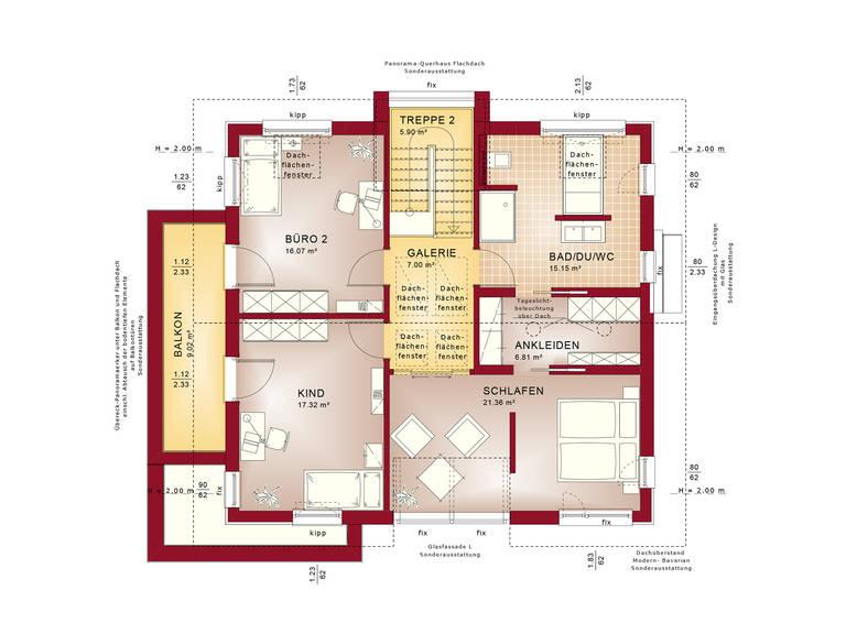 Grundriss DG Evolution Stuttgart - Einfamilienhaus