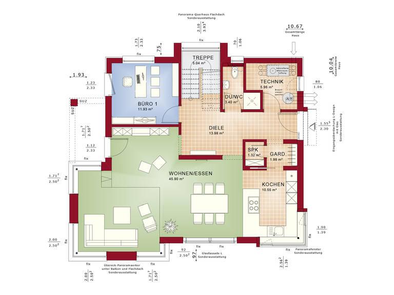 Grundriss EG Evolution Stuttgart - Einfamilienhaus