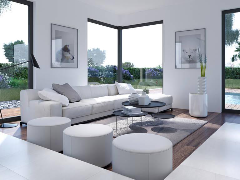 Innenansicht Wohnzimmer CONCEPT-M 153 Stuttgart - Einfamilienhaus von Bien Zenker