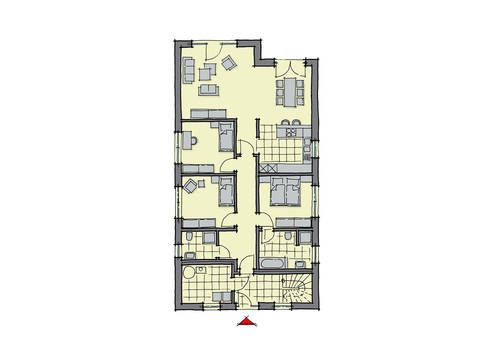 GUSSEK-HAUS - Zweifamilienhaus Ancona Grundriss EG