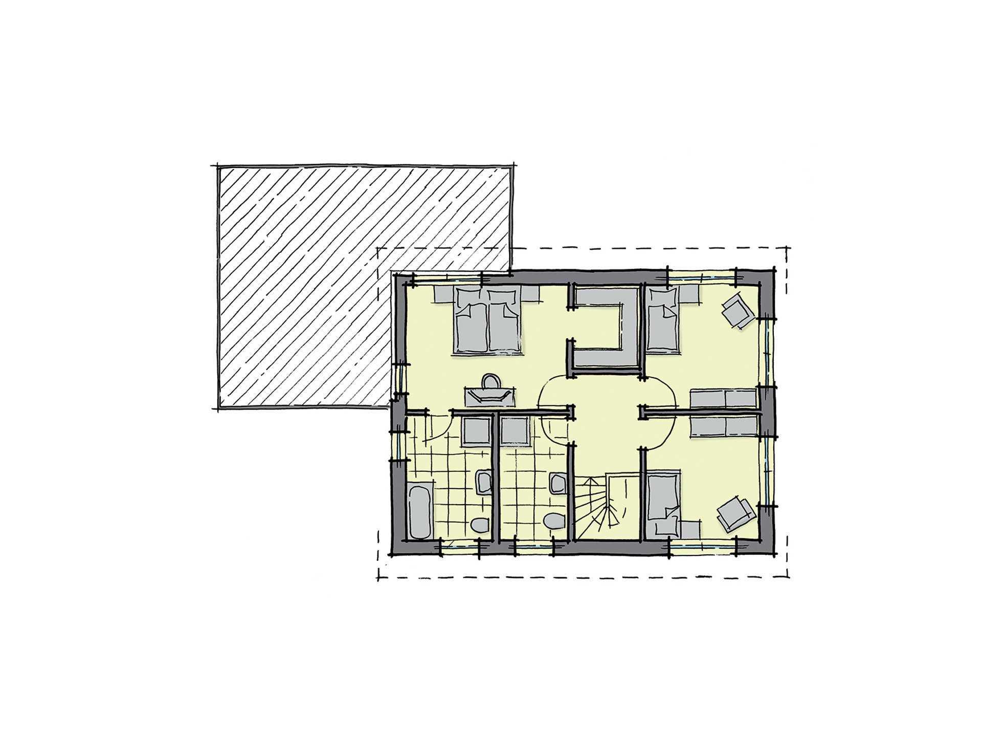 GUSSEK-HAUS - Doppelhaus Antwerpen Grundriss DG