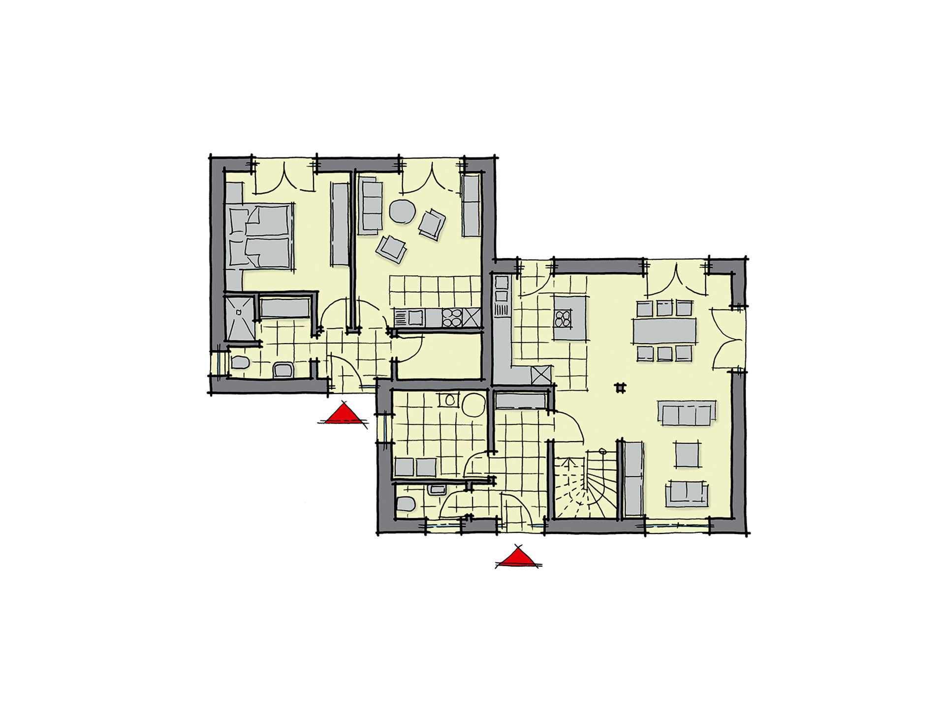 GUSSEK-HAUS - Doppelhaus Antwerpen Grundriss EG