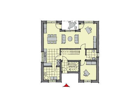GUSSEK-HAUS - Haus Barcelona Grundriss EG