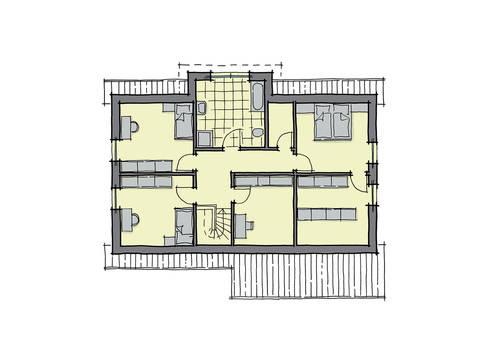 GUSSEK-HAUS - Haus Florenz Grundriss DG