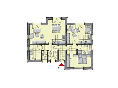 GUSSEK-HAUS - Haus Florenz Grundriss EG