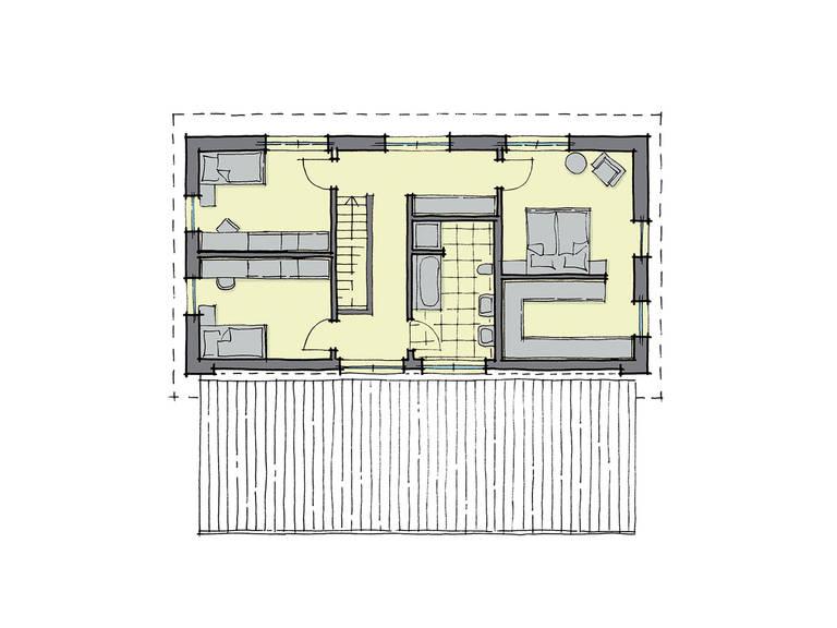 GUSSEK-HAUS - Pultdachhaus Genf Grundriss DG