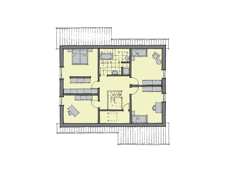 GUSSEK-HAUS - Einfamilienhaus Göteborg Grundriss DG