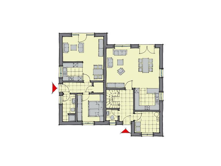 GUSSEK-HAUS - Einfamilienhaus Göteborg Grundriss EG