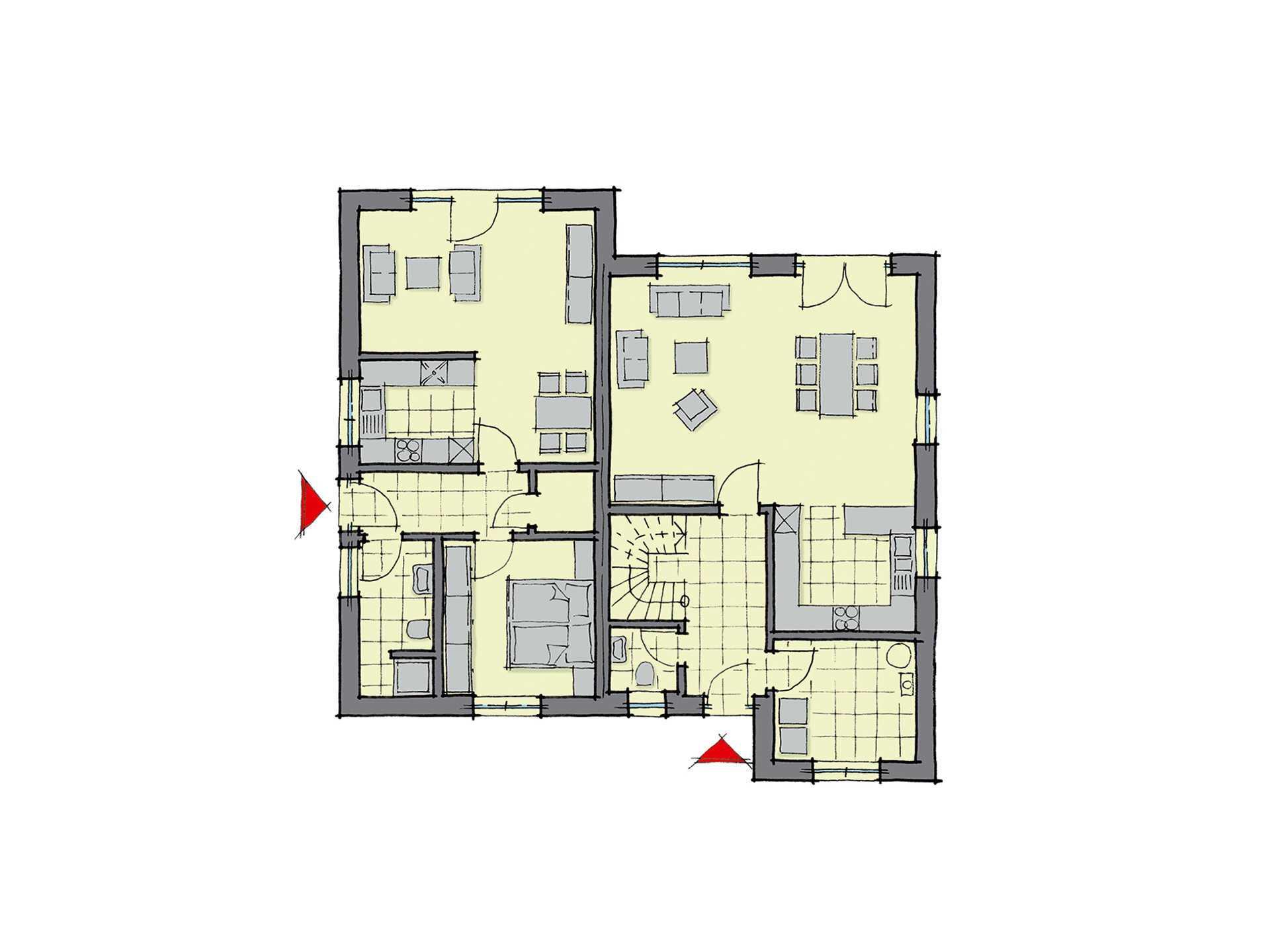 Einfamilienhaus g teborg mit einliegerwohnung gussek haus for Muster grundrisse haus
