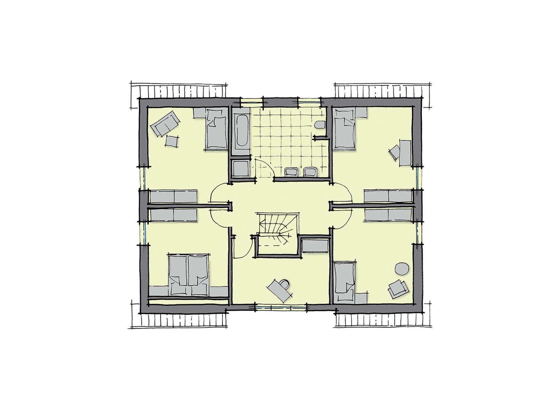 GUSSEK-HAUS - Einfamilienhaus Lugano mit Einliegerwohnung Grundriss DG