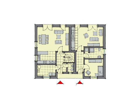GUSSEK-HAUS - Einfamilienhaus Lugano mit Einliegerwohnung Grundriss EG