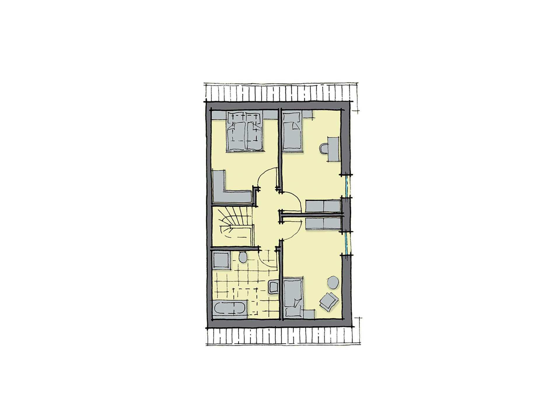 GUSSEK-HAUS - Doppelhaus Maastricht Grundriss DG